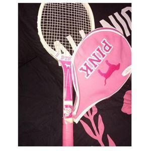 Vs pink vintage racket and case